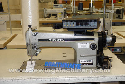Toyota AD158 sewing machine with trimmer